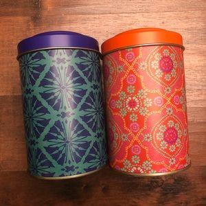 World Market Boho Tea Tin Storage Set of 2
